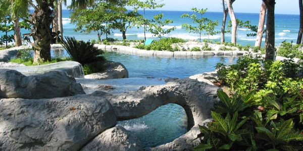 Seaside pools at Sea Horse Ranch Dominican Republic