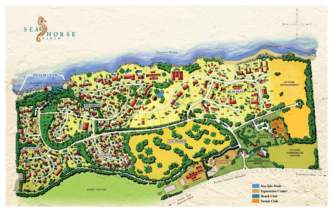 Map of Sea Horse Ranch - Dominican Republic Luxury resort Dom Rep Map on