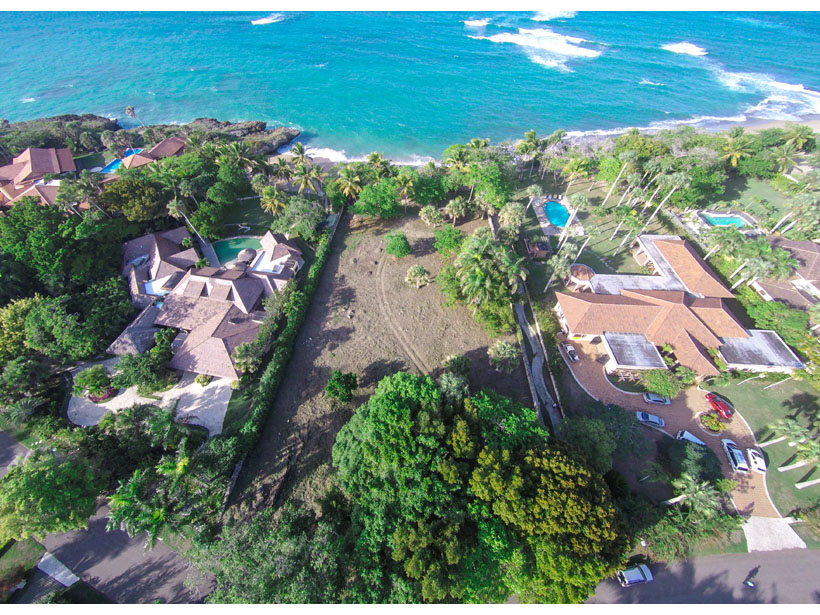 Beachfront land for sale in the Caribbean