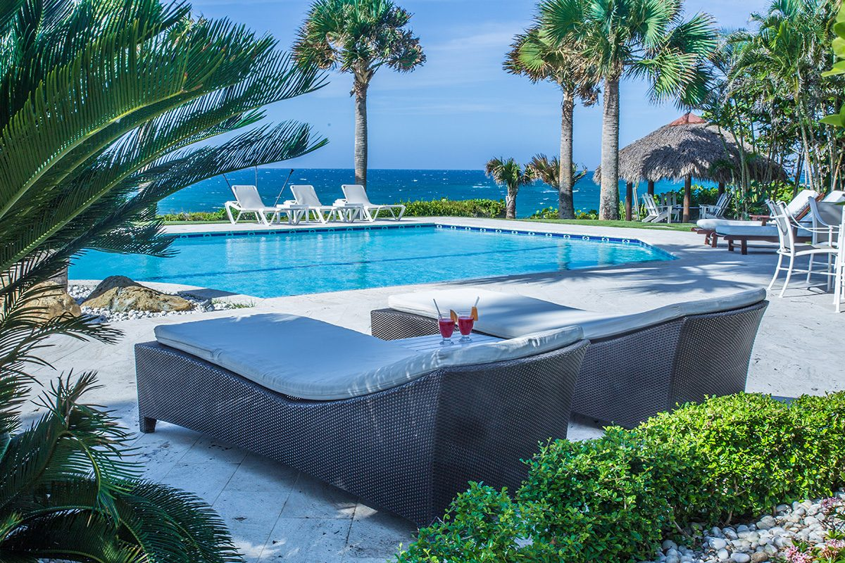 Caribbean oceanfront Villa